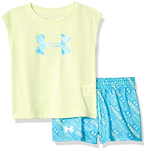 Under Armour Baby Girls Bodysuit OR Infant Tee/Tank Short Sets, Fade-S19, 12 Months (Football Short Girls)