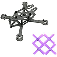 F80 88mm 88 Carbon Fiber Frame Kit Mini Light For Indoor Interior RC FPV Cross Racing Drone Quadcopter With 1935 Propeller