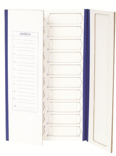 (Heathrow Scientific HD9913 Cardboard Blue Trim Slide Tray, 20 Place, 208mm Length x 341mm Width x 9mm Height (Pack of)