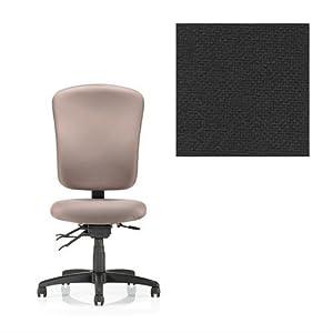 Office Master 24-7 Collection IU58 Ergonomic Task Chair - No Armrests - Grade 1 Fabric - Basic Black 1020 PLUS Free Ergonomics eBook