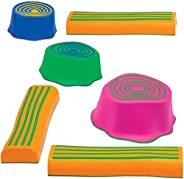 Edx Education Step-A-Trail - 6 Piece Obstacle Course For Kids - Indoor and Outdoor - Build Coordination and Co