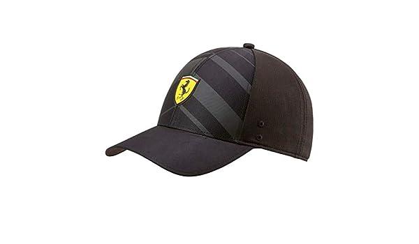 ba5a300dacf13 Amazon.com  PUMA Ferrari Kids Black Fanwear Tech Hat  Sports   Outdoors