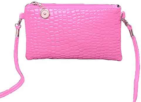 37eb26797deb Shopping Faux Leather - Pinks - Crossbody Bags - Handbags & Wallets ...