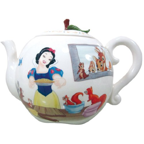 Westland Giftware 6-Inch Ceramic Teapot, 35-Ounce, Disney Snow White's Apple