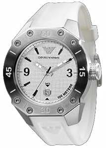 Armani AR0662 - Reloj con correa de acero para hombre, color plateado / gris