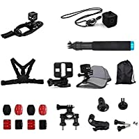 TELESIN 17-in-1 Mount Accessories Kit for Polaroid Cube and Polaroid Cube+ Lifestyle Action Camera