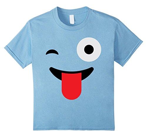 Sassy Emoji Costume (Kids Sassy Funny Smile Laugh Emoji Halloween Group Costume 4 Baby Blue)