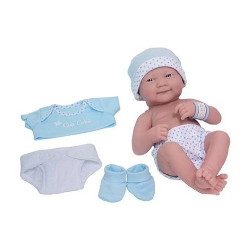Baby Doll Cake (JC Toys La Newborn My Cupcake Layette Doll In Blue 14