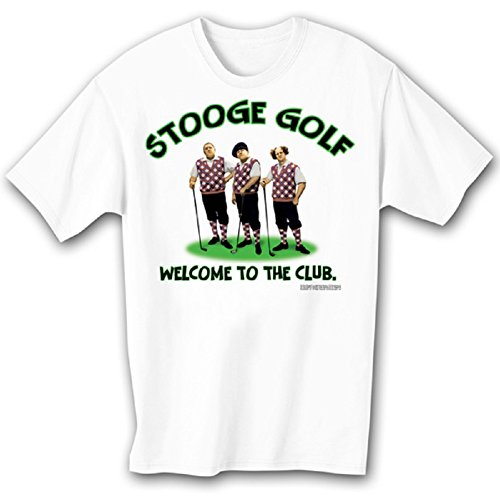 (ALLU Three Stooges at The Country ClubT Shirt- Large White)