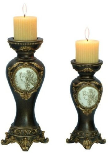 ORE International K-4192C Handcrafted Decorative Candle Holder, Bronze by ORE