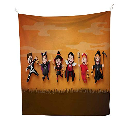 25 Home Decor Tapestries Wall hangings Children in Halloween Costumes Tapestries Hippie 54W x 72L INCH -