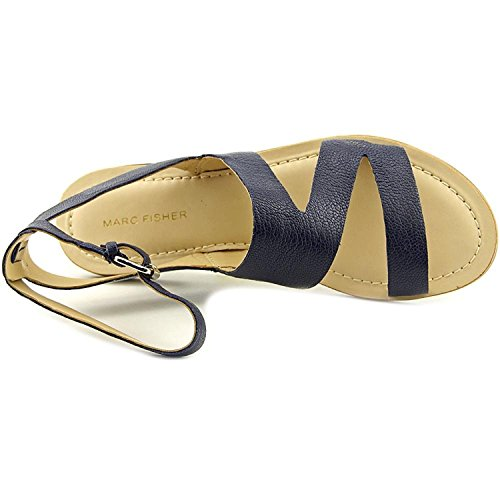 Marc Fisher - Sandalias de vestir para mujer Dark Blue Leather