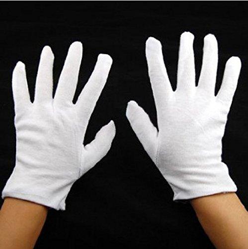 Fengh 12Paar mosdturising Futter Soft-Hand Baumwolle Futter Arbeit Garten Handschuhe _ Weiß