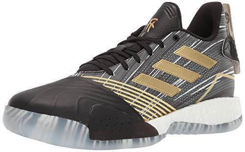 adidas Men's TMAC Millennium Basketball Shoe, Black/Gold Metallic/Dark Grey Heather Solid Grey, 13 M US