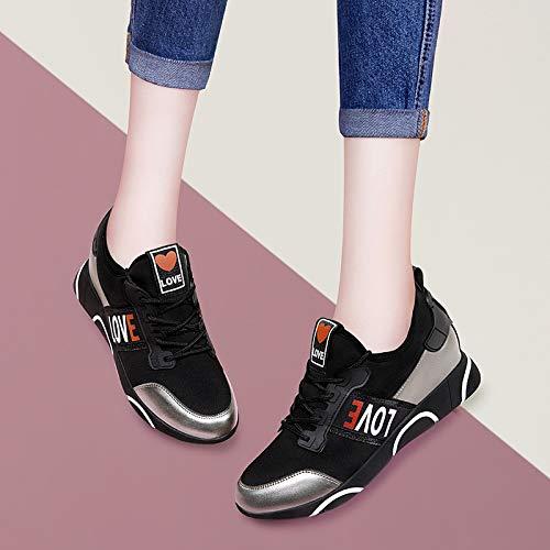 piu autunno e Donna Alla Scarpe studenti coreana gli sportive inverno da 'donne Moda black AJUNR versione le calzature in in autunno 0fxnnTaS