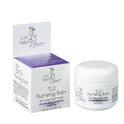 Just Hatched 4 Mama TLC Nursing Balm, Natural and Affordable, for Safe Breastfeeding, Made with Shea Butter and Calendula, Lanolin Free, Cruelty Free, 2 oz - Natural Nipple Butter