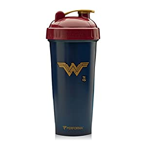 Performa Perfect Shaker - Justice League Movie Series, Leak Free Bottle With Actionrod Mixing Technology For Your Sports & Fitness Needs! Dishwasher and Shatter Proof(Wonder Woman)