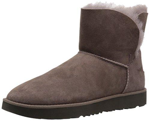 Ugg Sheepskin Stain - UGG Women's Classic Cuff Mini Winter Boot, Stormy Grey, 7 M US