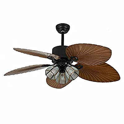 Buy 52inch Bohemian Style Celing Fans With Light Reversible Ceiling Fan Lamp With 5 Wooden Bronze Palm Tropical Blade For Living Bedroom Kitchen Online In Poland B094xwf5w1