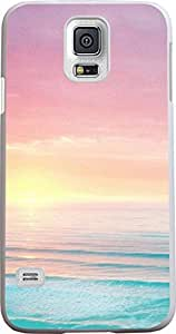S5 Case, Case for Samsung Galaxy S5 colorful sunrise pink sky blue sea