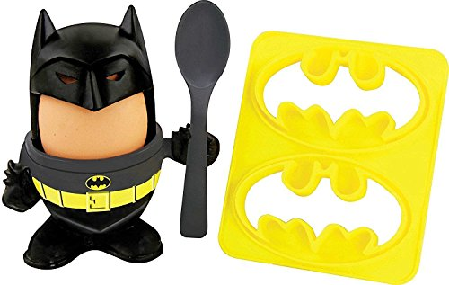 Breakfast Batman Hard Boiled Egg Holder and Toast Cutter Ages (Halloween Boiled Eggs)