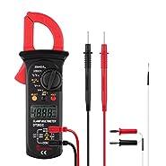 Micsoa Digital Clamp Meter Auto Ranging Multimeter AC DC Voltage, AC Current, Resistance and Temperature Test