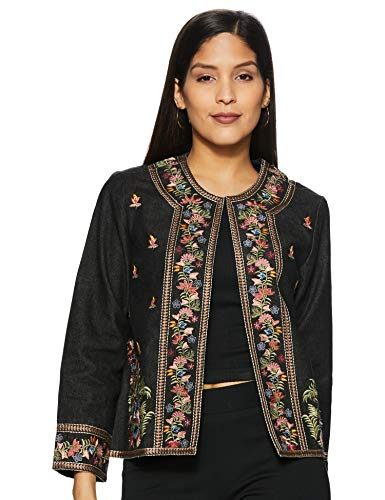 Front Open Full Sleeves Embroidered Jacket