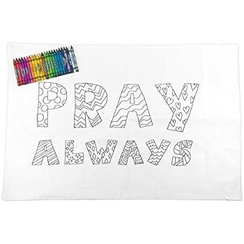 Amazon.com: LDS Kid\'s Baptism Pillowcase - Color Your Own - \