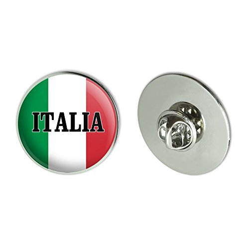 "GRAPHICS & MORE Italia Italy Italian Flag Metal 1.1"" Tie Tack Hat Lapel Pin Pinback"
