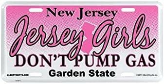 JERSEY GIRL METAL PINK LETTERS License Plate Frame Tag Holder