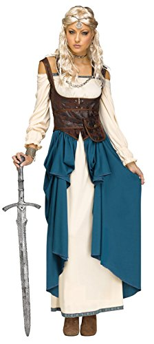 Fun World Women's Viking Queencostume, Multi, (Women Viking Costume)