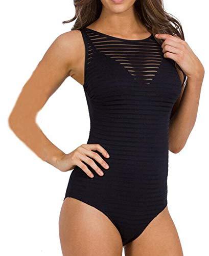 Ropa pieza Empuja Tankini arriba Transparente de o Monokini grande nataci ador hacia Leotardo de Bikini mujer para una Tama Ba xCtPqawROP
