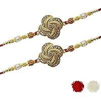 Elegant Designer Rakhi for Brother (Pack of 2) with Chandan Roli_69