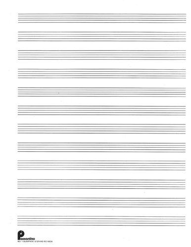Musipack 3 Ring Filler No. 1: 12-stave: Passantino Manuscript Paper (Passantino Manuscript - Music Papers Passantino