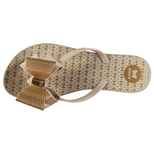 30ec9658a ... Zaxy Mujer Chanclas Pantuflas Zapatillas Zapatos Calzado Casual  Ivory Dorado