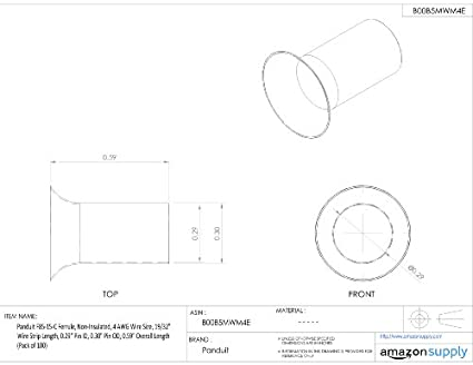 Panduit F85 15 C Ferrule Non Insulated 4 Awg 25 0mm 0 59 Inch