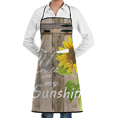 (Hidden Ambition You are My Sunshine Personalized Aprons for Women with Pockets, Mens Kitchen Aprons for Waiter Cooking Baking Crafting Gardening BBQ)