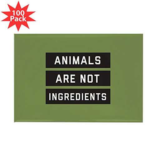 CafePress - Animals Are Not Ingred - Rectangle Magnet (100 pack) by CafePress