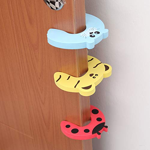 BYFRI Door Stopper Cartoon Cat Shape Door Wedge Stops Bedroom Safety Finger Protect Guard for Baby Children