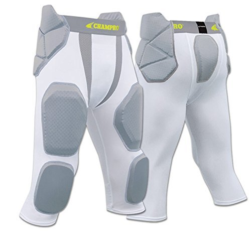 Blackout Tees FPGU7 Champro Man Up 7 Pad Girdle football pant CH White YOUTH - Girdle Youth