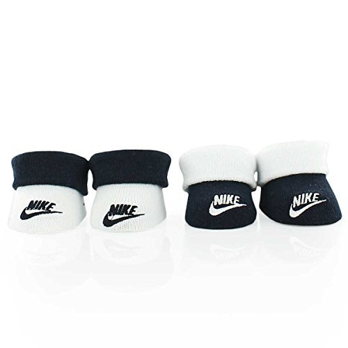 (Nike Infant Futura Booties (2 Pair) (White (IN0172-695) / Black, 0-6 Months))