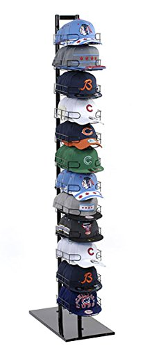 Baseball Cap Rack Tower Display 120 Hat 12-Tier Floor Standing Store Fixture New by Unknown