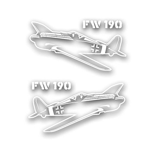 - FW 190 Set aircraft German Air Force fighter pilot model badge emblem for Audi A3 BMW VW Golf GTI Mercedes (2x15x8cm) - Sticker Wall Decoration