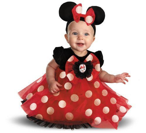 [Disguise My First Disney Red Minnie Costume, Black/Red/White, 6-12 Months Size: 6-12 Months Color: Black/Red/White, Model: 44958V, Toys &] (Infant Red Minnie My First Disney Costumes)