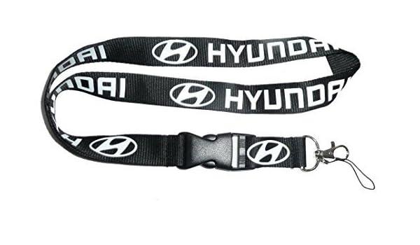 Hyundai negro coche Auto Logo cordón llavero soporte para ...