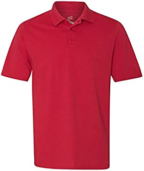 Hanes 055P Mens X-Temp Pique Short-Sleeve Polo with Fresh IQ