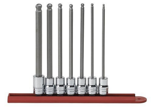 GearWrench 80574 7 Piece 3/8-Inch Drive SAE Ball Hex Bit Socket Set