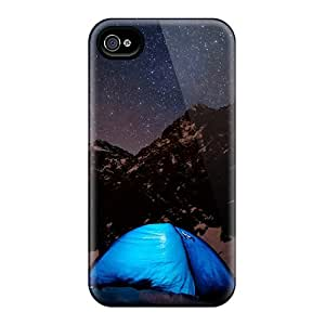 IGJ12849EFyv Cases Skin Protector For Iphone 6 Starry Camping Night With Nice Appearance