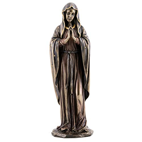 Top Collection Virgin Mary Statue- Roman Catholic Sculpture in Premium Cold Cast Bronze- 12-Inch Collectible Figurine