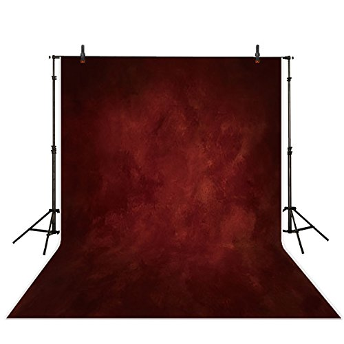 Allenjoy 5x7ft Professional Photography Backdrops Solid Color Retro Deep Red Old Master Wedding Background Indoor Portrait Studio Props Photo Booth Photocall Old Master Muslin